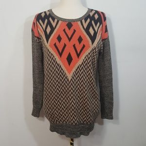 UO Ecote Tribal Sweater Small
